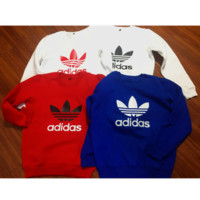 """Fashion """"Adidas"""" Print Sweater Pullover Tops Sweater Sweatshirts (7-color)"""