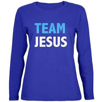 Team Jesus Womens Long Sleeve T Shirt