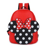 Children girl shcool backpacks lovely Mickey minnie Mouse big bowknot backpack cute girls mochila bag girl bags