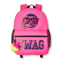 Girls Liquid Iridescent Emoji 'SWAG' Neon Backpack | The Children's Place