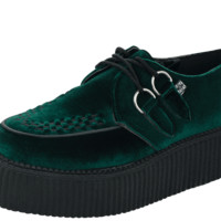 Green Velvet Creepers from T.U.K. - Women's 8/Men's 6