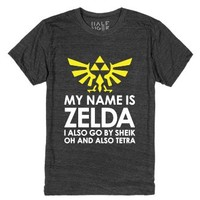 My Name is Zelda. And Sheik...and Tetra...-Heather Onyx T-Shirt
