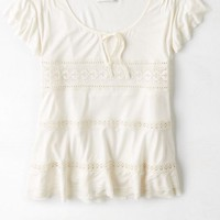 AEO Women's Lace Detailed Top