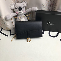 DIOR WOMEN'S LEATHER SADDLE INCLINED SHOULDER BAG