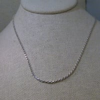 """Sterling Silver 24"""" Twisted Rope Chain Necklace, 2.5mm,  Italy, 925, 7.12 gr., UNISEX"""