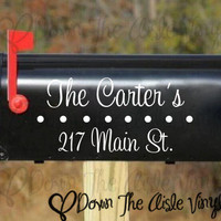 Personalized Mailbox Decal - Set of Three