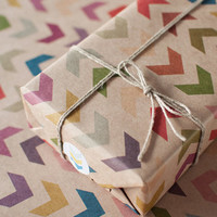 3 Sheets Follow the Arrow - Wrapping Paper