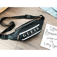 NIKE x ADIDAS x GUESS popular fashion clash letters for casual men and women who cross their wallets Black GUESS