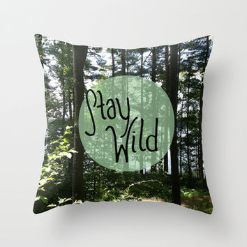 Stay Wild Throw Pillow by Summer Shells | Society6