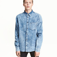H&M Washed Denim Shirt $34.99