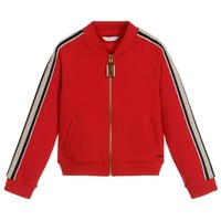 Marc Jacobs Girls Red Zip-Up Tracksuit Jacket Top