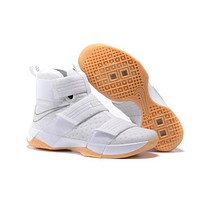 Nike LeBron Soldier 10 EP White/Raw RB Sneaker US7-12