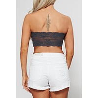 Harbour Strapless Bralette (Charcoal)