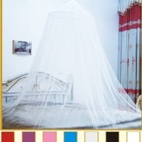 Octorose ® Cream Hoop New Bed Canopy Mosquito Net Crib Twin, Full, Queen or King Size