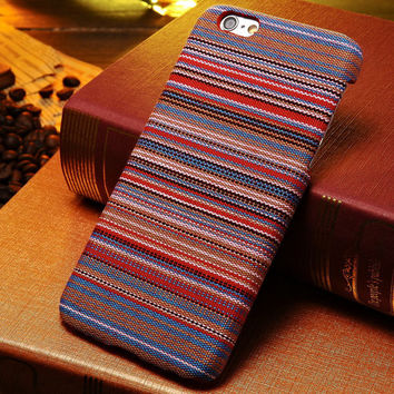 Retro Tribal Pattern Fabric Hard Case for iPhone6 6G