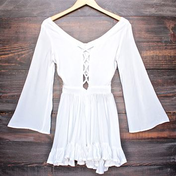 Lioness - By the Sea Gypsy Romper in White