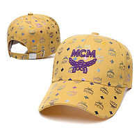 MCM Letter embroidered pattern letters Bucket hat Cap