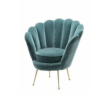 Blue Scalloped Accent Chair | Eichholtz Trapezium