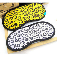 Travel Sleeping Eye Mask Cover Shade Blindfold Funny Leopard Night Novelty CALS