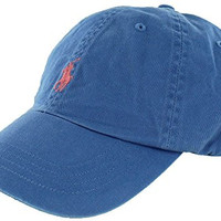 Polo Ralph Lauren Baseball Cap French Blue /Orange