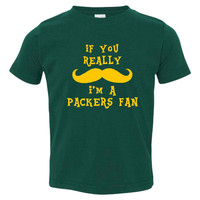 Funny If You Really Mustache I'm A Packers fan Tshirt Great Shirt for Green Bay Packers fans Funny Packers fan TShirt Great Gift Idea