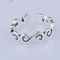Stylish Jewelry Gift New Arrival Shiny 925 Silver Korean Strong Character Ring [7652921287]