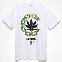 Crooks and Castles CDXX No Stems C T-Shirt - Mens Tee - White