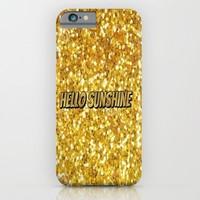 Hello Sunshine iPhone & iPod Case by Jessicasdesigns