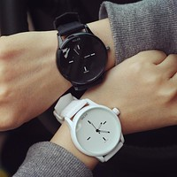 Good Price Trendy Great Deal Stylish New Arrival Awesome Gift Designer's Fashion Dial Simple Design Korean Couple Strong Character Watch [6045925057]