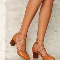 Intentionally Blank Hatter Leather Heel - Brown