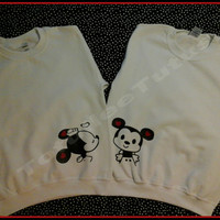 Disney Inspired Minnie and Mickey Couples Sweatshirt Mickey and Minnie Couples Sweatshirt