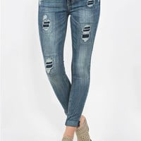 Roll Up Destructed Jeans