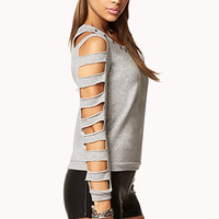 Spiked French Terry Sweater