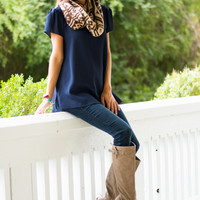 Love On The Line Top, Navy