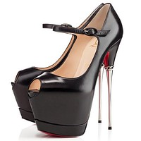Christian Louboutin Fashion Edgy Heels Shoes