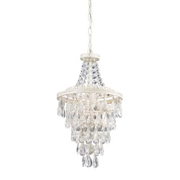 Clear Crystal Pendant Lamp Antique White,Clear