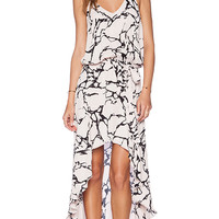 Karina Grimaldi Alma Print Maxi Dress in Pink