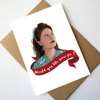 Twin Peaks Shelly Johnson Birthday Card Happy Birthday Do you want some Pie ?