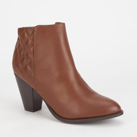 Bamboo Rebel Womens Boots Chestnut  In Sizes