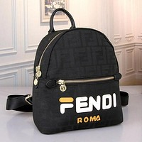 FENDI Women Fashion Leather Backpack Daypack Rucksack Bookbag