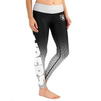 Women's Oakland Raiders Black Gradient Leggings