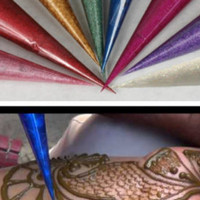 24 Henna Cone Henna Ready To Use Mixed Henna Tattoo Natural Pre Mixed Paste Hand Rolled Cones