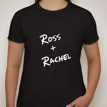 "Friends TV Show F.R.I.E.N.D.S ""Ross + Rachel"" T-Shirt"