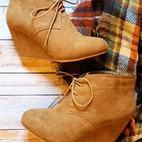 Easily Persuaded Booties-Camel