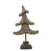"""23.5"""" Glittered Country Rustic Tree Christmas Tabletop Decoration"""