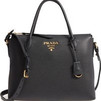 Prada Daino Leather Shoulder Bag | Nordstrom