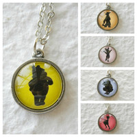 Pooh and Friends Double Sided Petite Disney Necklace - Inspired from Disney's Winnie The Pooh Pick from Tigger, Eeyore, Piglet, and more