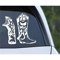 Cowboy Cowgirl Western Boot Die Cut Vinyl Decal Sticker