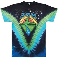 Jerry Garcia Men's  Mountain Cat Tie Dye T-shirt Multi