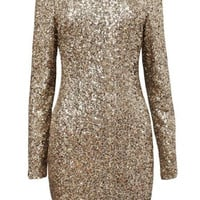 Sequined Backless Mini Dress